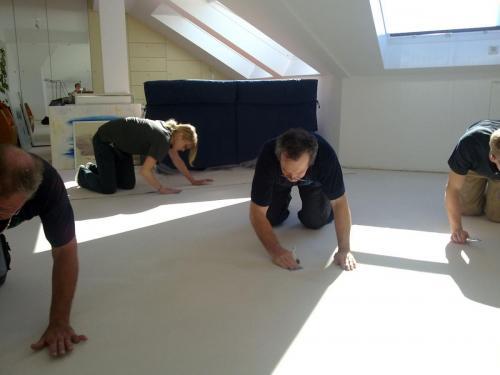 Teppichboden-privat-weiß-Farbe